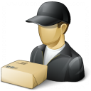 Delivery Man Parcel Icon 128x128