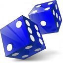 Dice Blue Icon 128x128