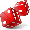 Dice Red Icon 128x128