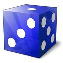 Die Blue Icon 128x128