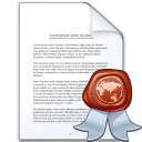 Document Certificate Icon 128x128