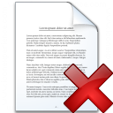 Document Delete Icon 128x128
