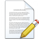 Document Edit Icon 128x128