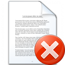 Document Error Icon 128x128