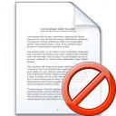 Document Forbidden Icon 128x128