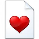 Document Heart Icon 128x128