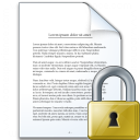 Document Lock Icon 128x128