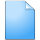 Document Plain Blue Icon 128x128