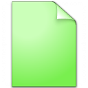 Document Plain Green Icon 128x128