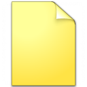 Document Plain Yellow Icon 128x128