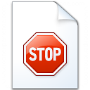 Document Stop Icon 128x128