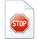 Document Stop Icon 128x128