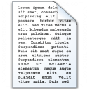 Document Text Icon 128x128
