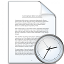 Document Time Icon 128x128