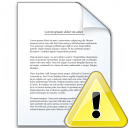 Document Warning Icon 128x128