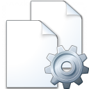 Documents Gear Icon 128x128