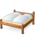 Double Wooden Bed Icon 128x128