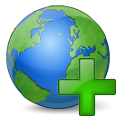 Earth Add Icon 128x128