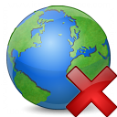 Earth Delete Icon 128x128