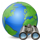 Earth Find Icon 128x128