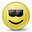 Emoticon Cool Icon 128x128
