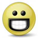 Emoticon Grin Icon 128x128