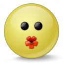 Emoticon Kiss Icon 128x128