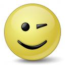 Emoticon Wink Icon 128x128