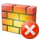 Firewall Error Icon 128x128