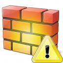 Firewall Warning Icon 128x128