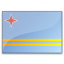 Flag Aruba Icon 128x128