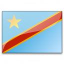 Flag Congo Democratic Republic Icon 128x128