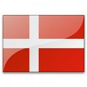 Flag Denmark Icon 128x128