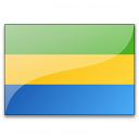 Flag Gabon Icon 128x128