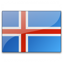 Flag Iceland Icon 128x128