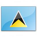 Flag Saint Lucia Icon 128x128