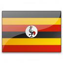 Flag Uganda Icon 128x128