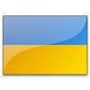 Flag Ukraine Icon 128x128