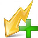 Flash Yellow Add Icon 128x128