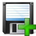 Floppy Disk Add Icon 128x128