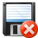 Floppy Disk Error Icon 128x128