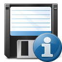 Floppy Disk Information Icon 128x128
