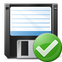 Floppy Disk Ok Icon 128x128