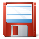 Floppy Disk Red Icon 128x128