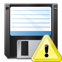 Floppy Disk Warning Icon 128x128
