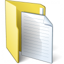 Folder 3 Document Icon 128x128