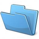 Folder Blue Icon 128x128