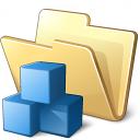 Folder Cubes Icon 128x128