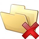 Folder Delete Icon 128x128
