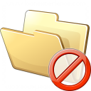 Folder Forbidden Icon 128x128